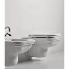 Kerasan Waldorf pakabinamas WC su lėtai nusileidžiančiu dangčiu, baltas