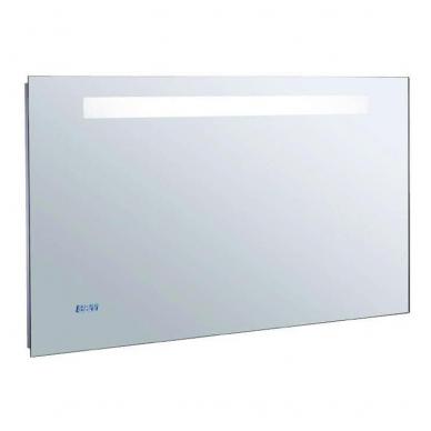 Kohler veidrodis, su LED apšvietimu, nerasojantis, su laikrodžiu, 80 x 65 cm, IP44