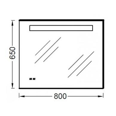 Kohler veidrodis, su LED apšvietimu, nerasojantis, su laikrodžiu, 80 x 65 cm, IP44 2