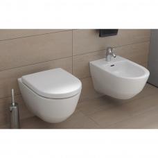 Laufen Pro pakabinamas WC puodas be nuplovimo lanko Rimless+ Pro WC lėtai nusileidžiantis dangtis, storas