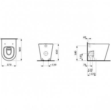 Laufen Kartell pristatomas WC su lėtai nusileidžiančiu dangčiu, baltas 2