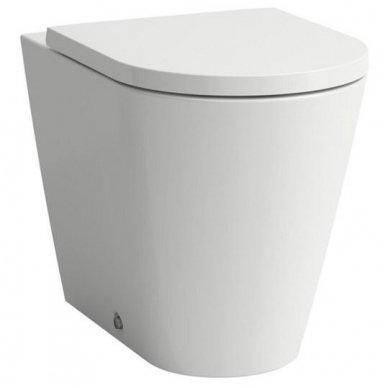 Laufen Kartell pristatomas WC su lėtai nusileidžiančiu dangčiu, baltas