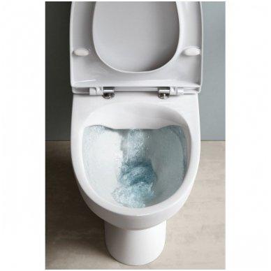Laufen Kompas pastatomas WC su lėtai nusileidžiančiu dangčiu, baltas 2