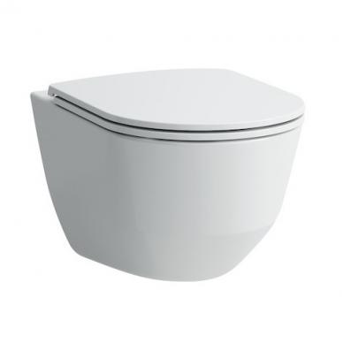 Laufen Pro Rimless pakabinamas WC su Slim lėtai nusileidžiančiu dangčiu, baltas
