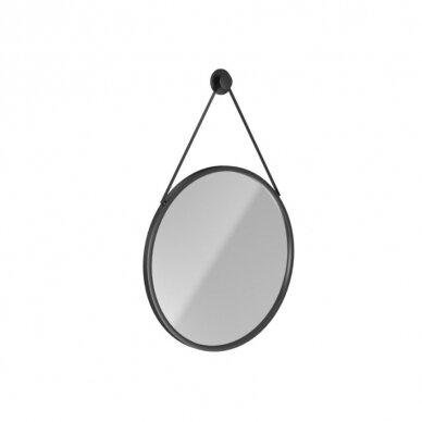 Massi Valo veidrodis, 70cm, juodos spalvos