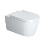 Duravit ME by Starck Rimless pakabinamas WC, su lėtai nusileidžiančiu dangčiu, baltas
