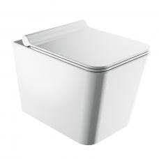 Omnires Boston pakabinamas WC su su lėtai nusileidžiančiu dangčiu, blizgus baltas