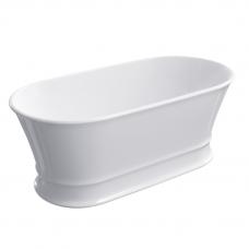 Omnires Classica lieto akmens laisvai pastatoma vonia, blizgi balta