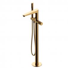Omnires Contour grindinis maišytuvas voniai, braižytas auksas