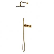 Omnires Contour potinkinė dušo sistema, braižytas auksas