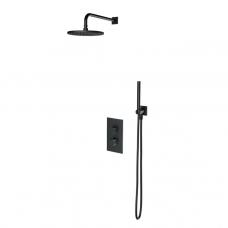 Omnires Contour potinkinė termostatinė dušo sistema, antracitas