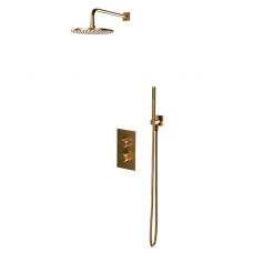 Omnires Contour potinkinė termostatinė dušo sistema, braižytas auksas
