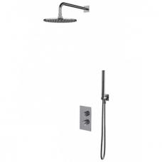 Omnires Contour potinkinė termostatinė dušo sistema, chromas