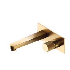 Omnires Contour potinkinis praustuvo maišytuvas, braižytas auksas