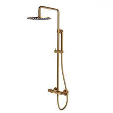 Omnires Contour termostatinė dušo sistema, braižytas auksas