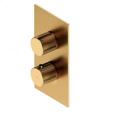 Omnires Contour termostatinis dušo/vonios maišytuvas, braižytas auksas