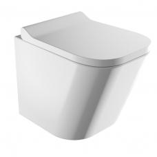 Omnires Fontana pakabinamas WC su lėtai nusileidžiančiu dangčiu, blizgus baltas