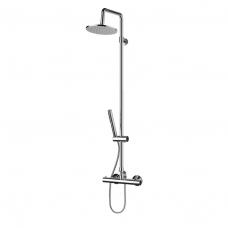 Omnires Mini virštinkinė termostatinė dušo sistema su stacionaria galva, chromas