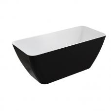 Omnires Parma laisvai pastatoma vonia, balta/blizganti juoda