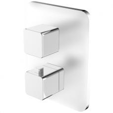 Omnires Parma potinkinis termostatinis vonios/dušo maišytuvas, chromas/balta