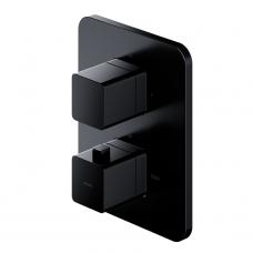 Omnires Parma potinkinis termostatinis vonios/dušo maišytuvas, juodos spalvos