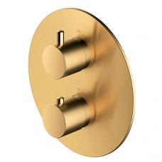 Omnires potinkinis termostatinis vonios/dušo maišytuvas su 2 išėjimais, braižytas auksas