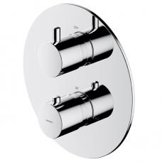 Omnires potinkinis termostatinis vonios/dušo maišytuvas su 2 išėjimais, chromas