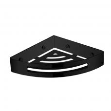 Omnires Uni kampinė dušo lentynėlė, matinės juodos spalvos