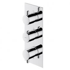 Omnires Y potinkinis termostatinis trijų taškų vonios/dušo maišytuvas, chromas
