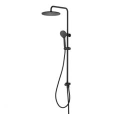 Omnires Y virštinkinė dušo sistema su stacionaria dušo galva, juodos spalvos