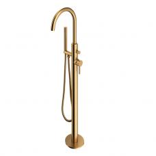 Omnires Y vonios maišytuvas montuojamas ant grindų, braižytas auksas