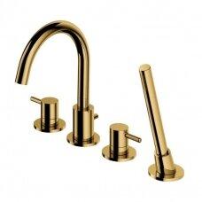 Omnires Y vonios maišytuvas montuojamas į vonios kraštą, aukso spalvos
