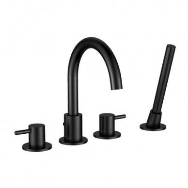 Omnires Y vonios maištuvas montuojamas į vonios kraštą, juodos spalvos