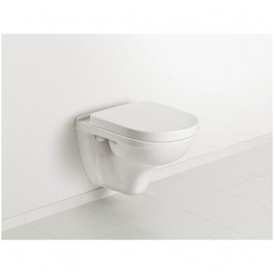 Villeroy & Boch O.Novo pakabinamas WC su lėtai nusileidžiančiu dangčiu, baltas