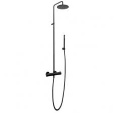 Paffoni Light termostatinė dušo sistema, juoda