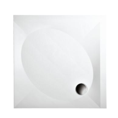 PAA Art KV akmens masės dušo padėklas, su kojomis ir uždanga, baltas