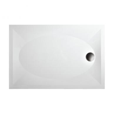 PAA Art KV akmens masės dušo padėklas, su kojomis ir uždanga, baltas 2