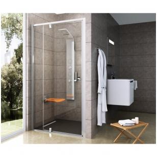 Ravak Pivot PDOP2 dušo durys, 100cm, profilis baltas, stiklas skaidrus