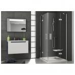 Ravak SmartLine kvadratinė dušo kabina, vyriai chromuoti, stiklas skaidrus