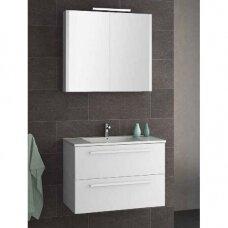 Raguvos baldai Serena dviejų dalių kompletas su veidrodine spintele, 75 cm, spalvų ir apšvietimo pasirinkimas