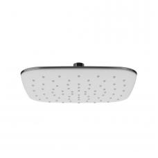 Ravak ABS kvadratinė dušo galva su sieniniu laikikliu, 25 x 25 cm, balta/chromas
