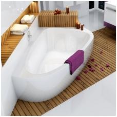 Ravak LoveStory II akrilinė asimetrinė dvivietė vonia, kairės pusės, 196 x 113,5 - 139 cm, balta