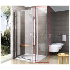 Ravak Pivot PPS stacionari sienelė, 90cm, baltas profilis, stiklas skaidrus