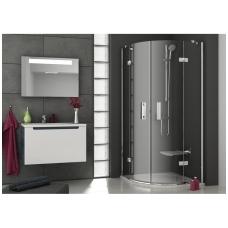 Ravak SmartLine pusapvalė dušo kabina, vyriai chromuoti, stiklas skaidrus