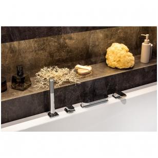 Ravak Chrome CR 025.00 vonios maišytuvas montuojamas į kraštą, chromas