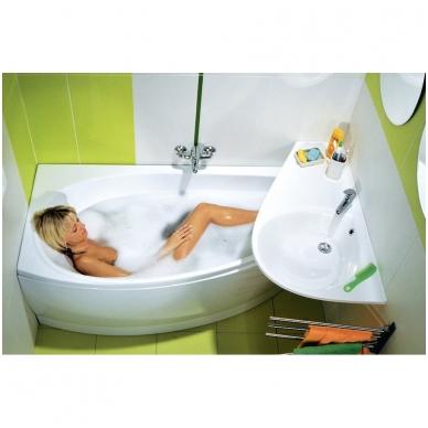 Ravak Avocado akrilinė, asimetrinė vonia, balta 2