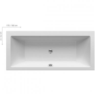 Ravak Formy 01 akrilinė vonia, balta 3