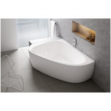 Ravak LoveStory II akrilinė asimetrinė dvivietė vonia, kairės pusės, 196 x 113,5 - 139 cm, balta 2