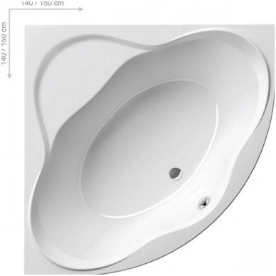 Ravak NewDay akrilinė kampinė vonia, 140 x 140, balta 3