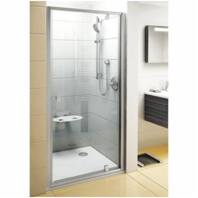 Ravak Pivot PDOP1 dušo durys, 90cm, stiklas skaidrus Transparent, profilis baltas/baltas 2